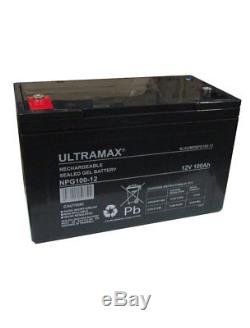 100Ah 12V Deep Cycle AGM SEALED GEL Battery for Leisure, Solar, Wind & Off-grid