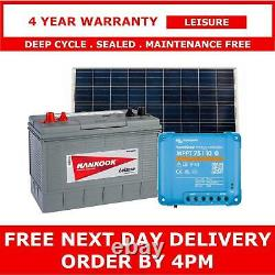 100Ah Leisure Battery, 115W Solar Panel with MPPT Charger Controller Set