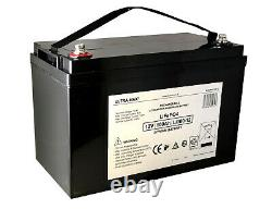 100Amps 12V LITHIUM LiFePO4 Battery for Leisure, Solar, Wind and Off-grid 12V