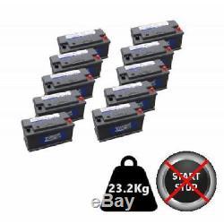 10x 110Ah Dual Purpose Leisure Batteries 12V