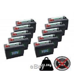 10x Hankook 100Ah Deep Cycle Leisure Batteries 12V