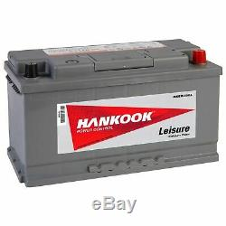 10x Hankook Leisure Battery LOW HEIGHT PROFILE Deep Cycle 12V 110Ah 800A