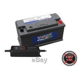 110Ah Leisure Battery Caravan Camper Van 12V & Smart Charger Quick Dispatch