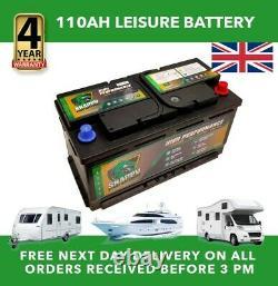 110ah Leisure Battery 12v High Power Deep Cycle 4yr Warranty Caravan Campervan