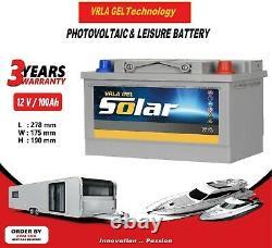 12V 100AH AGM/GEL Deep Cycle Leisure Battery, MOTORHOME, BOAT, SOLAR