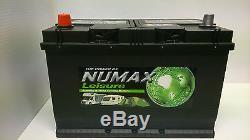 12V 100AH NUMAX LV26MF Leisure Marine Battery Caravan Motorhome Boat Motor Mover
