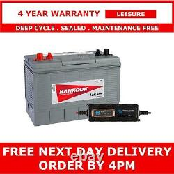12V 100Ah Deep Cycle Leisure Battery & 4A Victron IP65 Charger