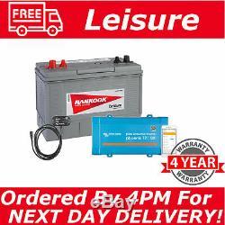 12V 100Ah Sealed Leisure Battery & 12V 500VA Victron Phoenix VE Direct Inverter