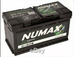 12V 105AH Numax DC25MF Deep Cycle Leisure Marine Battery Motorhome Caravan Boat