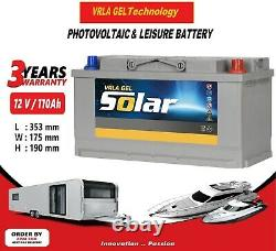 12V 110AH AGM/GEL Deep Cycle Leisure Battery, MOTORHOME, BOAT, SOLAR