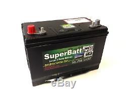 12V 110AH Heavy Duty Deep Cycle Leisure & Marine Battery SuperBatt DT110
