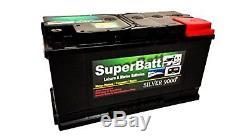 12V 110AH SuperBatt Deep Cycle Leisure Battery Caravan Motorhome Marine Boat