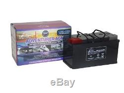 12V 110 AH Leoch Adventurer AGM Deep Cycle Leisure Battery LOW HEIGHT