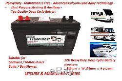 12V 120AH (110AH) TB31MF Leisure Battery KNAUS Kimberley Compas Hymer Autocruise