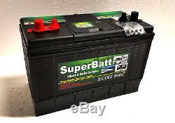 12V 120AH Heavy Duty Deep Cycle Leisure & Marine Battery SuperBatt DT120