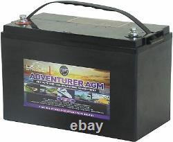 12V 120 AH Leoch Adventurer AGM Deep Cycle Leisure Battery -LAGM 120