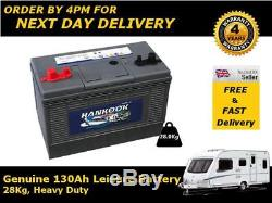 12V 130AH HANKOOK DT130 Deep Cycle Leisure & Marine Battery Dual Posts