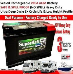 12V 130AH SB AGM130 Ultra Deep Cycle VRLA AGM Leisure Marine Battery 110AH 120AH
