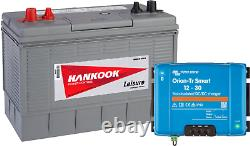 12V 130Ah Leisure Battery with Smart DC-DC 12V 30A Battery to Battery Charger
