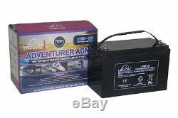 12V 130 AH Leoch Adventurer AGM Deep Cycle Leisure Battery