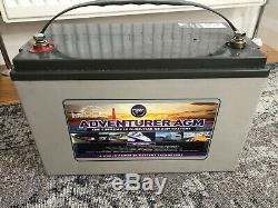 12V 130 AH Leoch Adventurer AGM Deep Cycle Leisure Battery NEW