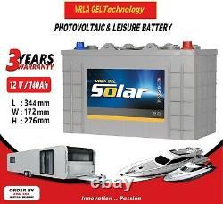 12V 140AH AGM/GEL Deep Cycle Leisure Battery, MOTORHOME, BOAT, SOLAR