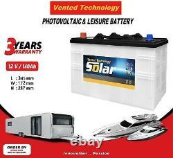 12V 140AH Deep Cycle Leisure battery Marine Caravan Boat Photovoltaic Solar