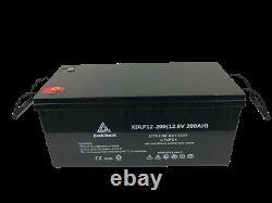 12V 200Ah Lithium LiFePO4 Leisure Battery (Over 5000 cycles)