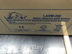 12V 260 AH Leoch AGM Leisure Battery