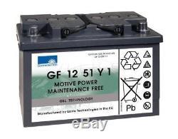 12V 51AH Sonnenschein Gel Marine Mobility Boat Battery LEISURE GF 12 51 Y 1