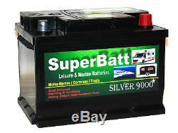 12V 65AH SuperBatt LH65 Dual Purpose Leisure Marine Long Life Calcium Battery