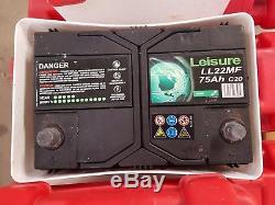 12V 75AH Deep Cycle Leisure Batteries JOB LOT Caravan Motorhome Marine Boat