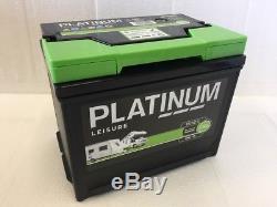 12V 75AH Platinum 685L Heavy Duty Deep Cycle Leisure Marine Battery