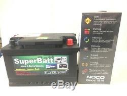 12V 75AH SB LH75 Leisure Caravan Camping Battery & Noco 3.5A Automatic Charger