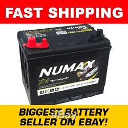 12V 80AH Deep Cycle Battery Numax XV24MF Leisure Caravan Marine Boat Solar Systm