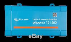 12V 85Ah Deep Cycle Leisure Battery & 12/250 Phoenix Inverter for Camper Caravan