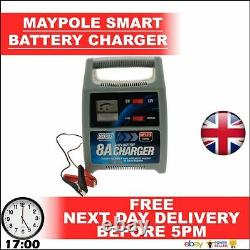 12V 8A MAYPOLE Leisure / Car Battery Automatic Smart Charger 8 Amp BRANDED