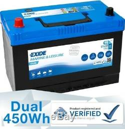 12V 95AH (100ah) EXIDE ER450 Deep Cycle Leisure Marine Battery Made In Europe