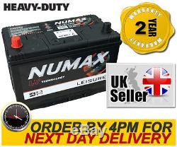 12V 95AH Deep Cycle Battery Numax LV26MF Leisure Caravan Marine Boat Solar