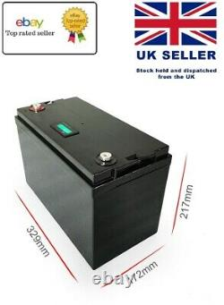12V LITHIUM LiFePO4 Battery for Leisure Solar Wind Off-grid 100Ah