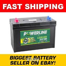 12V Leisure Battery Powerline XV31MF CXV TWIN POSTS! 110Ah