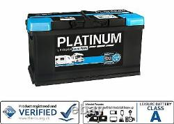 12V Platinum 100AH AGM Deep Cycle Leisure Battery NCC Approved Class A