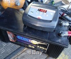 12V massive 220AH Leisure battery Deep cycle UPS Marine motohome camper caravan