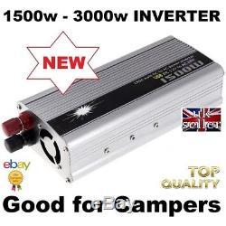 12 Volt 1500W Inverter + 110Ah Leisure Battery Camper Boat SELF BUILD SOLAR 12V