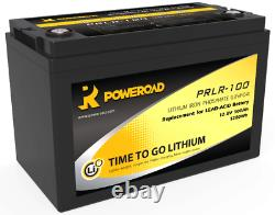 12v 100ah Lithium Battery for Leisure Marine Campers Off Grid Power- 4000