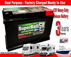 12v 110ah Agm-110l (efb) Leisure Battery Heavy Duty Low Height (100ah Amp)110 Ah