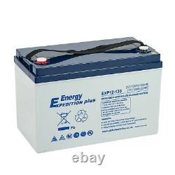 12v 130ah Expedition Plus Deep Cycle Agm Leisure Battery 4 Year Warranty