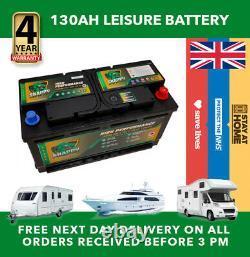12v 130ah Leisure Battery High Power Deep Cycle 4yr Warranty Caravan Campervan