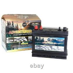 12v 130ah Leoch Adventurer Dual Terminal Leisure Battery (sfl-130dt) Xv31mf