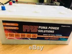 12v 210ah Heavy Duty Dual Purpose Leisure + Starter Battery D401g